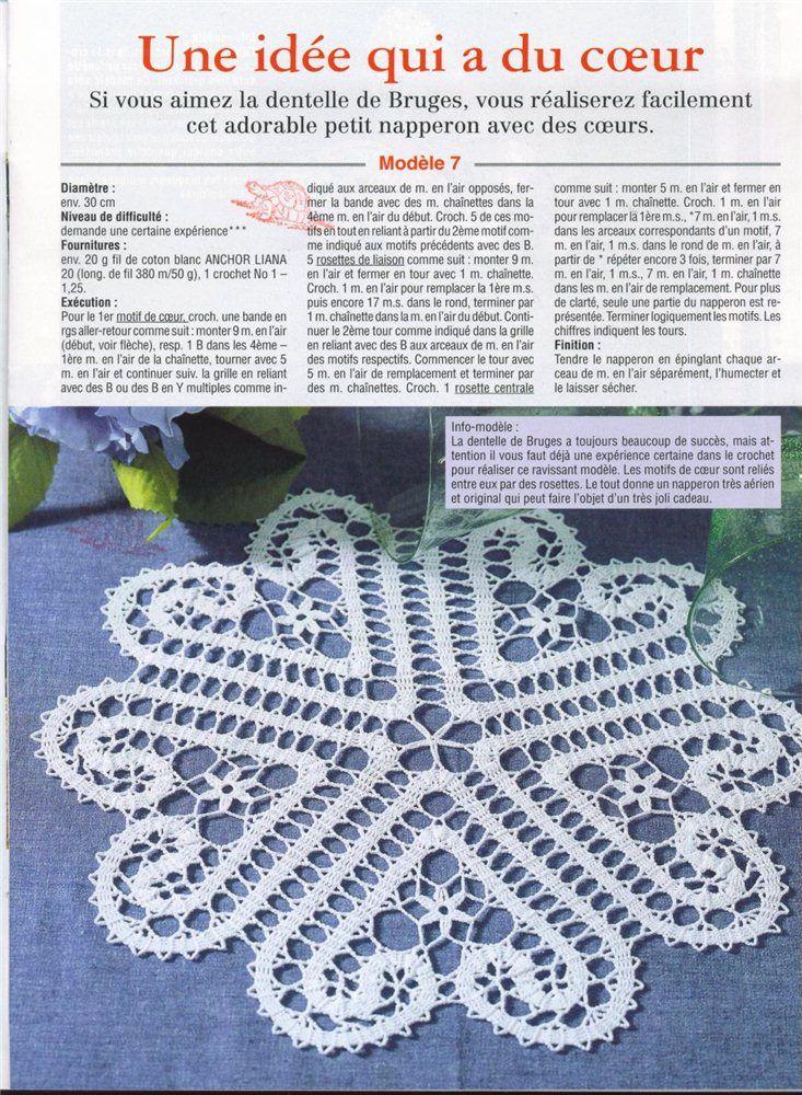 heart tableclothes, free crochet patterns | make handmade, crochet, craft