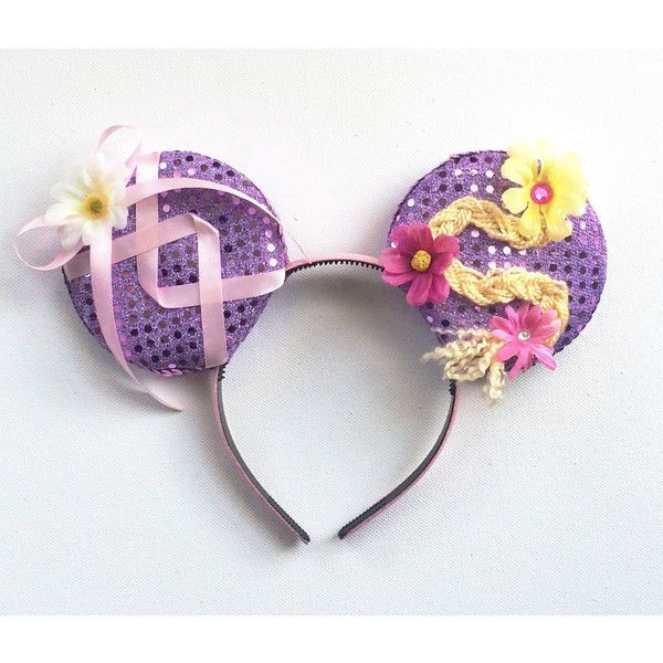 Tangled Disney inspired Ears, Rapunzel Ears, Tangled Mickey Ears,... ($32) ❤ liked on Polyvore featuring jewelry and earrings