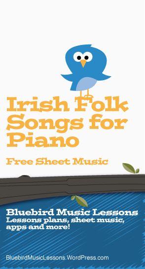 Irish Folk Songs for Piano|Free Easy/ Intermediate Piano Sheet Music
