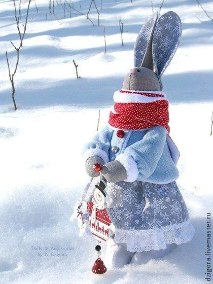 Игрушки животные, ручной работы. Ярмарка Мастеров - ручная работа Snow Bunny. Handmade.