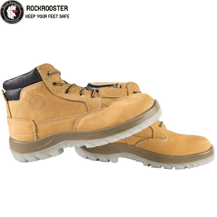 CABALLO---ROCKROOSTER AC Series Men's work boots Zip sided Ankle boots with steel toe cap - AU$110.00