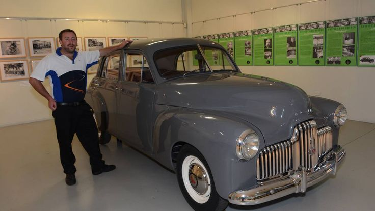 Just like ours - Where is the hood emblem? The National Motor Racing Museum with the first Holden sold. FX