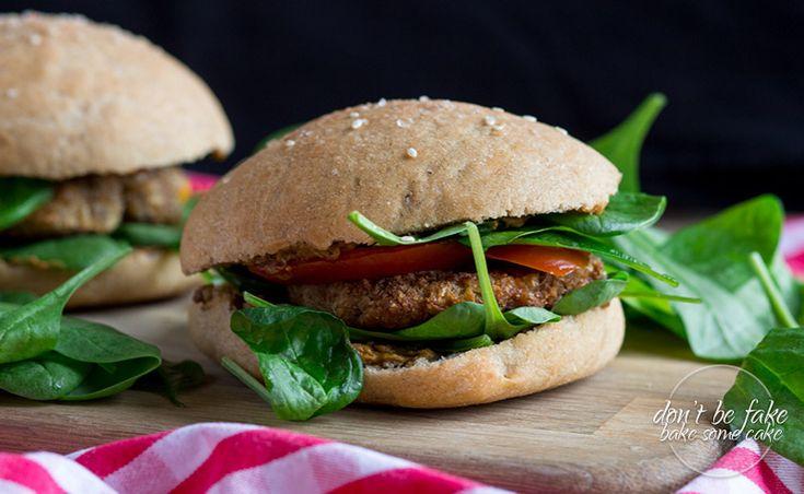 homemade veggie burger with zucchini patties