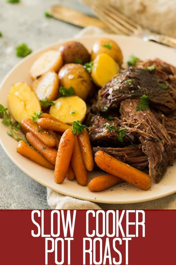 This Slow Cooker Pot Roast is a complete meal in the crockpot! Tender and flavor…   – Recipes