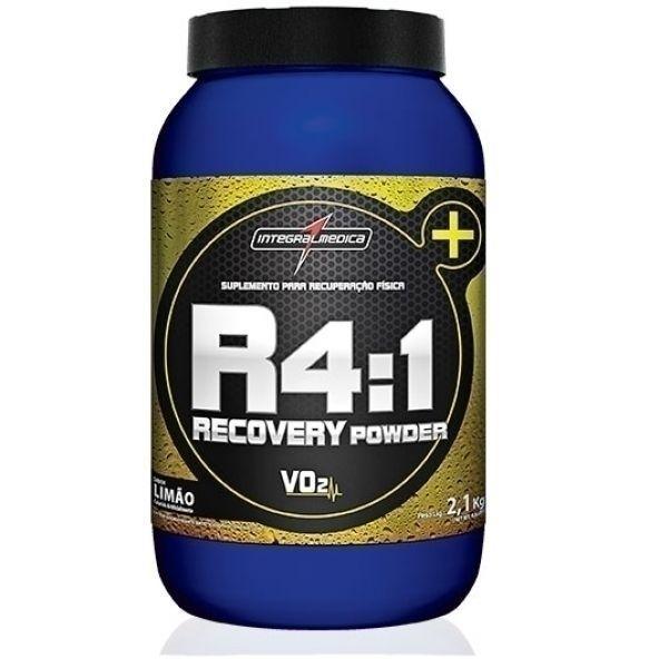 R4:1 Recovery Powder VO2 da Integralmedica é um repositor energético e proteico, composto por carboidratos de absorção super rápida (frutose e dextrose) e de média absorção (maltodextrina), além de proteínas do soro do leite (whey protein concentrado) e proteína hidrolisada do trigo. Também contém vitaminas e minerais (cálcio, fósforo, vitamina C e vitamina E).