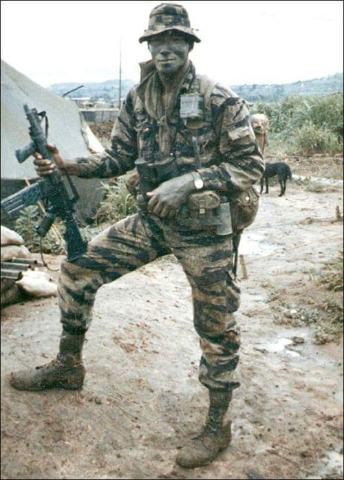Charles Holland, 173rd Airborne Brigade LRRP, KIA August 8th 1967, Kontum Province. Note the old skool vertical grip. http://amzn.to/1qYlxeE