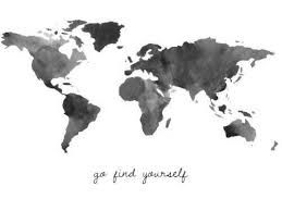 black and white map of the world - Google Search