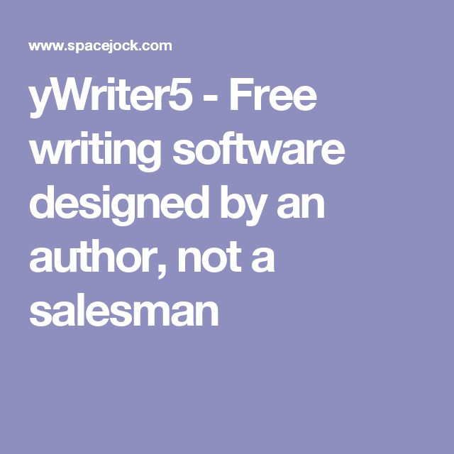 Best 25 writing software ideas on pinterest novel writing ywriter5 free writing software designed by an author not a salesman fandeluxe Images
