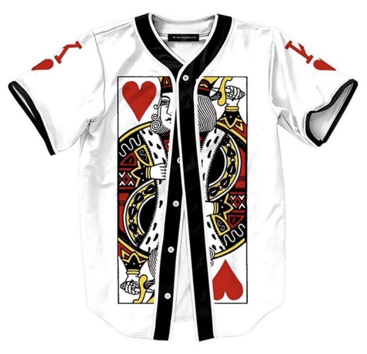 Onyx Hearts King of Hearts Baseball Jersey This premium jersey will definitely set you apart at your next concert or live event. Material: Cotton & Polyester