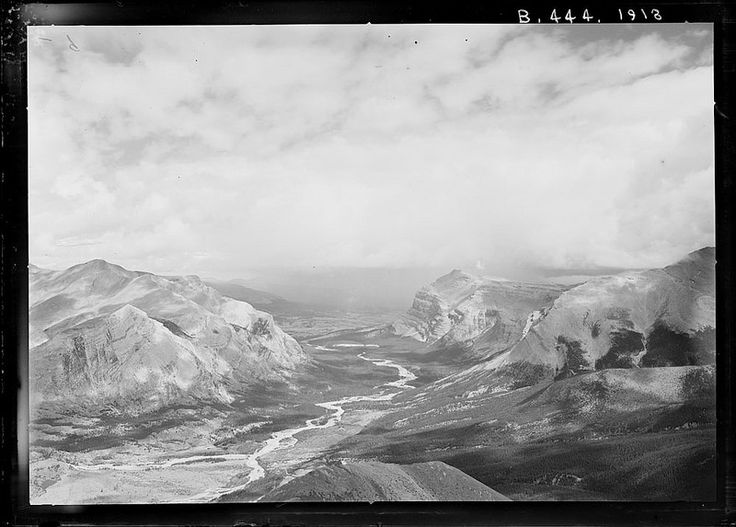 Red Deer River Valley looking northeast from Station 212 on Mount White, Banff National Park / La vallée de la Red Deer en regardant vers le nord est à partir du camp 212 sur le mont White, au parc national Banff | by BiblioArchives / LibraryArchives