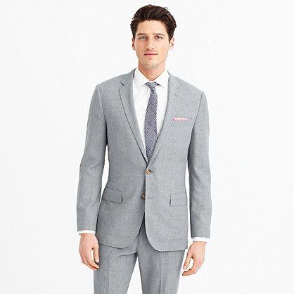 Ludlow Traveler suit jacket in Italian wool - light grey suit for groomsmen, or vice versa