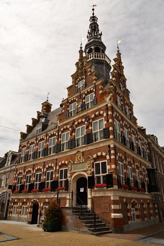 The City Hall of Franeker, Friesland, the Netherlands. It was built between 1591-1594