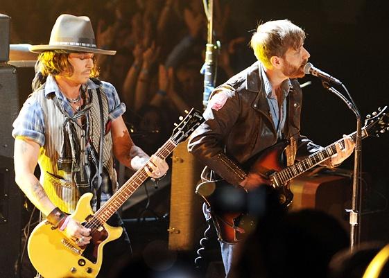 Johnny Depp & The Black Keys Perform at the MTV Movie Awards 2012..