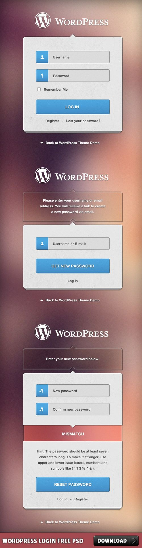 Cool WordPress Login Free PSD. WordPress Login Free PSD file. This will helps you with customization of login/register WordPress form. Download this amazing PSD play around feel FREE to use it in any commercial project you want. Enjoy!  #Custom #customizable #design #downloadpsd #elements #File #free #freepsd #gui #images #login #psd #resources #Sources #template #templates #theme #user #web #wordpress #www Check more at http://psdfinder.com/free-psd/wordpress-login-free-psd