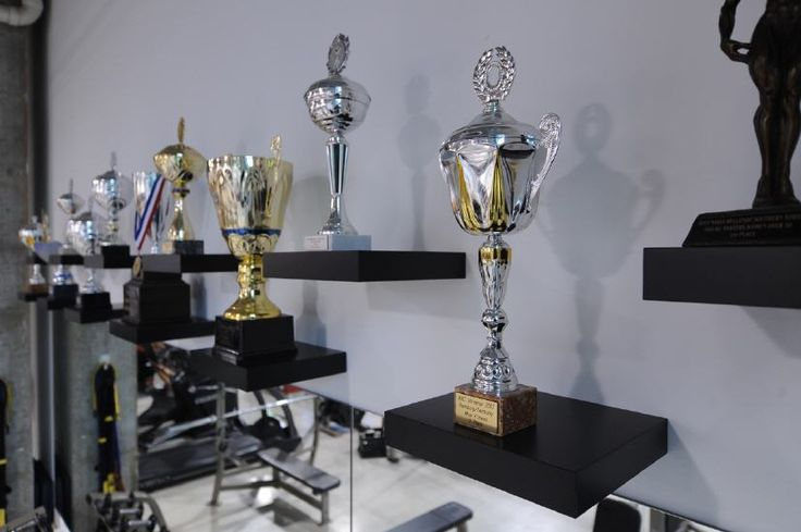 Trophy Display Idea Use Floating Shelving Achievements