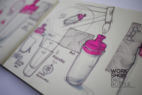 This is a great example of fluid sketching activities documented in a journal. Great use of colour to highlight form/features. (WORKSHOP on Behance.)