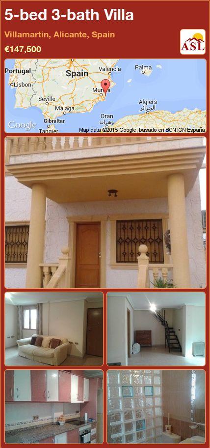 5-bed 3-bath Villa in Villamartin, Alicante, Spain ►€147,500 #PropertyForSaleInSpain