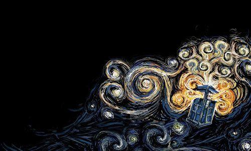 TARDIS ❤The Tardis, Tardis Art, Doctorwho, Vincent Vans Gogh, Art Prints, Doctors Who, Van Gogh, Fans Art, Dr. Who
