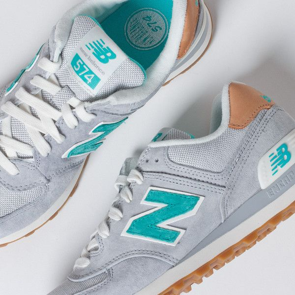 grey new balance 574 womens gray and blue