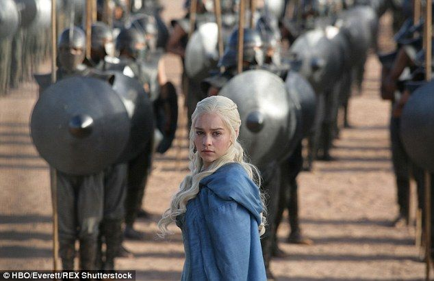 'She's paler than milk' The script page was thought to reveal clues as to what the future may hold for central protagonist Daenerys Targaryen, played by Emilia Clarke