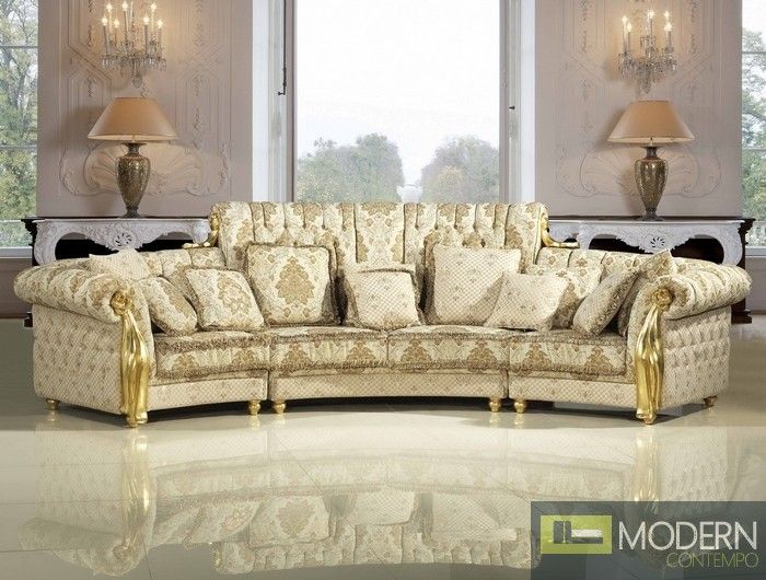 Beautiful European Inspired Sofa From The Casa Giordano Collection.  Http://moderncontempo.
