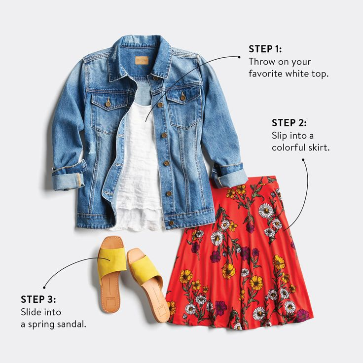Love love ❤️ the jacket need a new one for spring. I like them a bit slouchy. Not too tight  Love the colors - I don't wear skirts just slacks (ie docker styling), jeans and shorts even short-shorts. Easy Spring Outfits