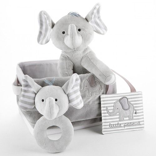 104 best baby shower gift ideas images on pinterest baby shower this 5 piece set has you ready for gifting whether it be for a baby boy or girl the elephant theme features a lovable plush pal a soft blankie with an negle Images
