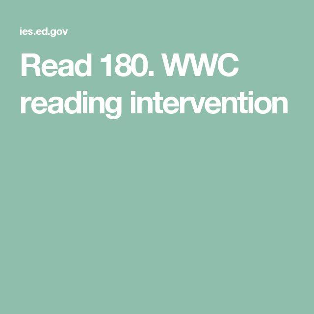 Read 180. WWC reading intervention