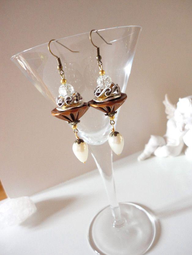 ....und was Extravagantes in Sachen Nespresso-Schmuck ! **wunderschöne edle Ohrhänger aus Aluminium und Perlen, die jeder Frau einen Hauch Elegance verleihen - besonders zu Anlässen und...
