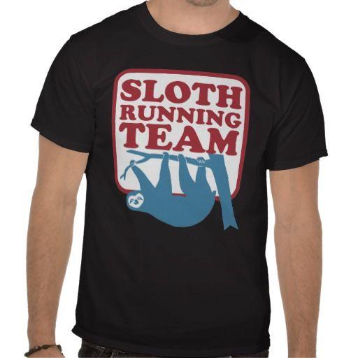 sloth running team tshirts