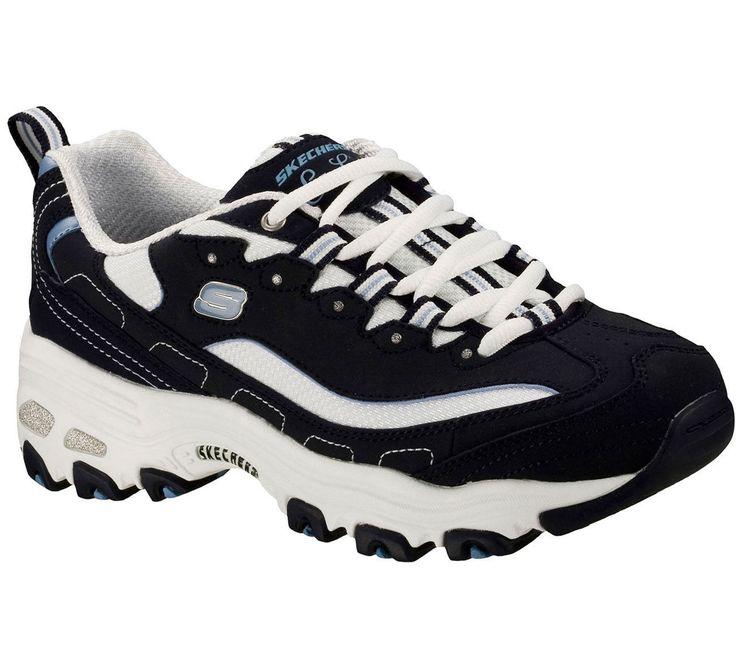 11422 Navy D'Lites Skechers Shoe Women Sport Soft Comfort Athletic Train Sneaker