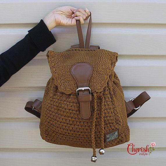 Alesha crochet backpack/backpack/Casual/woman by CherishInstyle