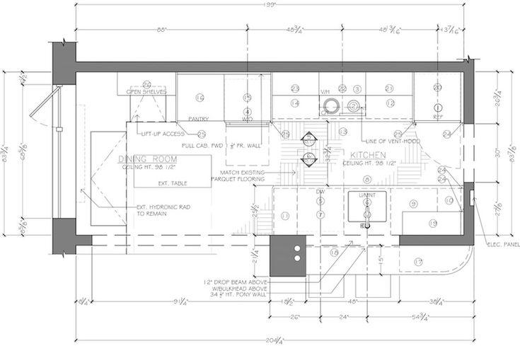 Floor plan construction document corey klassen interior - Design a kitchen floor plan for free online ...