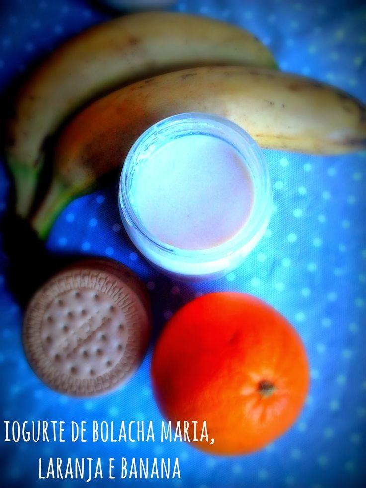 donabimby: Iogurte de Bolacha Maria, Laranja e Banana