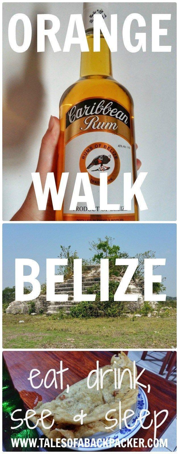 Orange Walk town in Belize is small but with plenty to do for a couple of days. Visit Lamanai, drink rum & eat delicious street food in Orange Walk Belize!