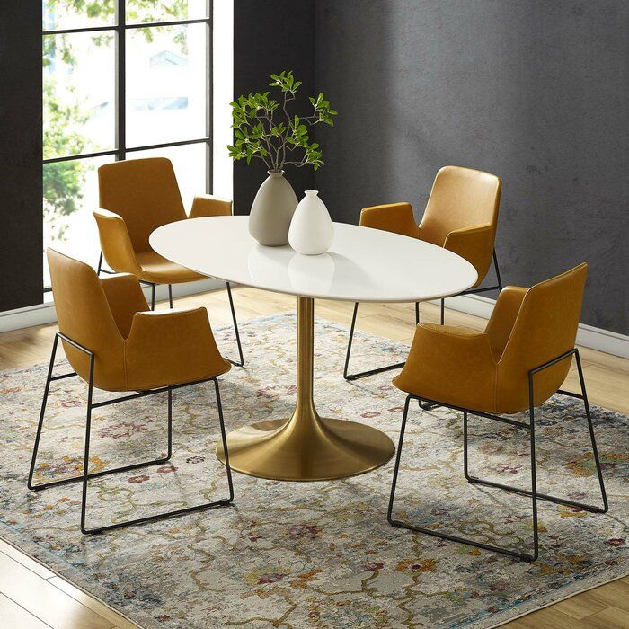 Julien Oval Dining Table In 2019 Tulip Dining Table