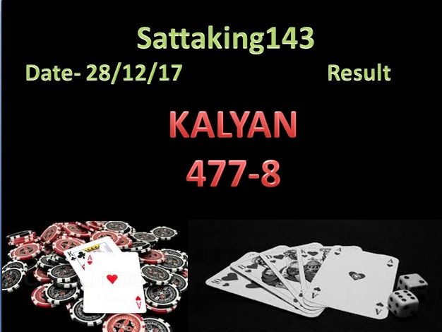 Kalyan Satta matka  result Date - 28/12/2017 pls check for more #satta #matka #sattaking out #sattamatka #guessing website http://sattaking143.mobi/