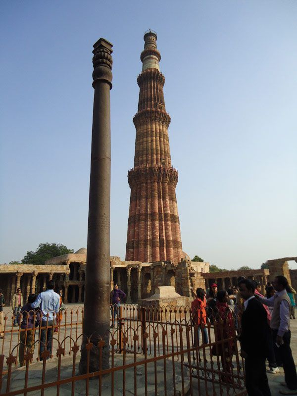 Most Mysterious Places on Earth...4. Iron pillar of Delhi, India.  An ancient iron pillar in Delhi which seems to be rust proof.The Iron Pillar located in Delhi, India, is a 7 m (23 ft) column in the Qutub complex, notable for the rust-resistant composition of the metals used in its construction.