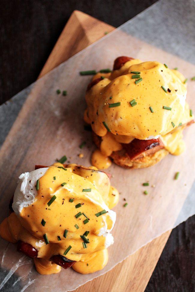 Cajun Eggs Benedict – twist on a breakfast classic!