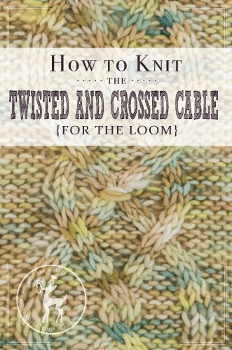 It's Day 14 of our 31 days of knitting series, and today's stitch is the called the twisted and crossed cable. This is a really fun twist on a large cable because it has a cool gathered stitch in the middle of it. HOW TO KNIT THE TWISTED AND CROSSED CABLE {FOR THE LOOM} MATERIALS USED IN …