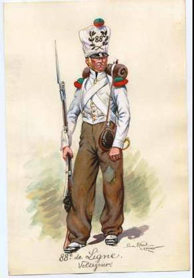 Volteggiatore della compagnia del 88 rgt. di fanteria leggera in Spagna, 1811