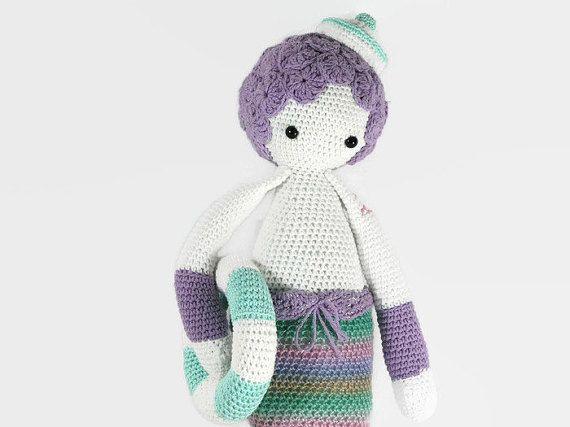 Lalylala Mice mermaid Doll - Lalylala mermaid Doll - Stuffed Crochet mermaid - Amigurumi - Crochet Doll-amigurumi Doll -Mice mermaid