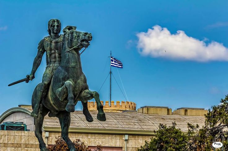 Alexander the Great Statue in Thessaloniki the capital of the northern Greek province of #Macedonia