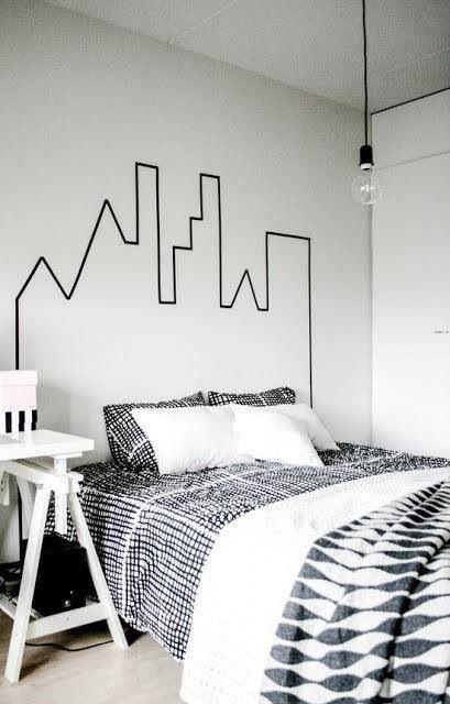 washi tape wall ideas3
