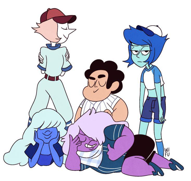 Steven universe,фэндомы,SU art,SU Персонажи,Pearl (SU),Sapphire (SU),Steven (SU),Lapis Lazuli,Amethyst (SU)