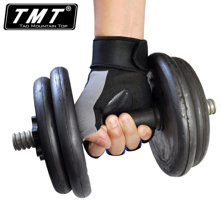 Professional Breathable Fitness Gloves Sports Half Finger wrist gym equipment bicycle anti-skid weightlift gloves 1 Pair