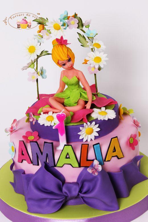 Torturi - Viorica's cakes: Tort Tinkerbell pentru Amalia