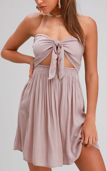 aa0a62165669 O'Neill Lawrence Taupe Strapless Convertible Dress | Women's Dresses ...