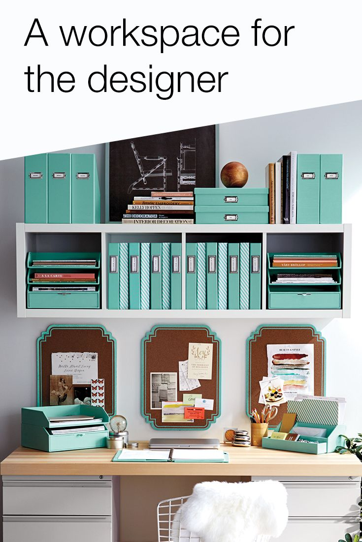 Every designer needs a workspace that supports creativity. Ditch your drab desk for a space that shines with Office by Martha Stewart, available only at Staples.