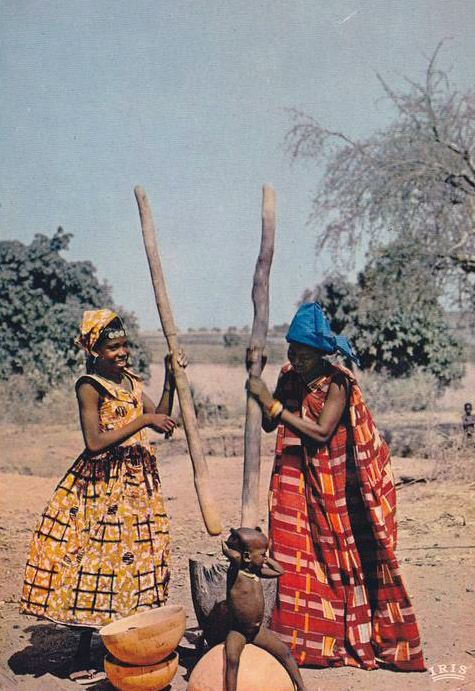 Africa |  Fulani woman in Niamey, Niger.  ca. 1966 || Scanned postcard.